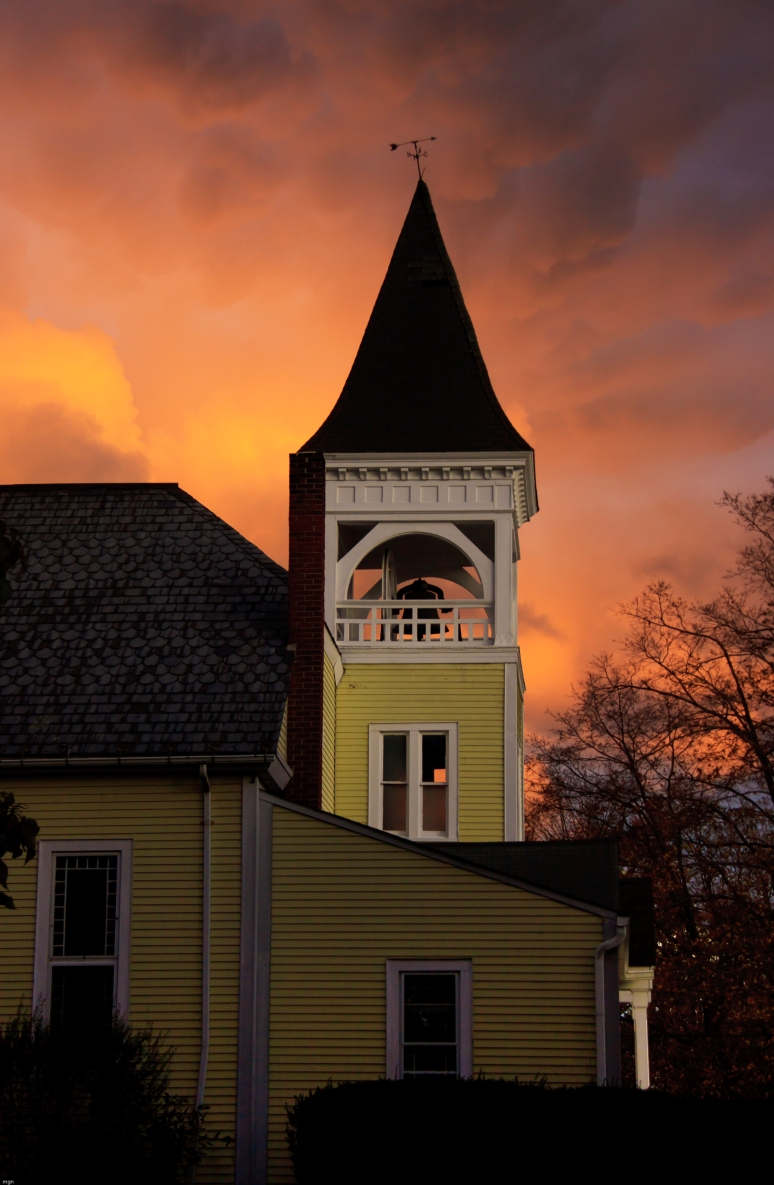 orange sky church